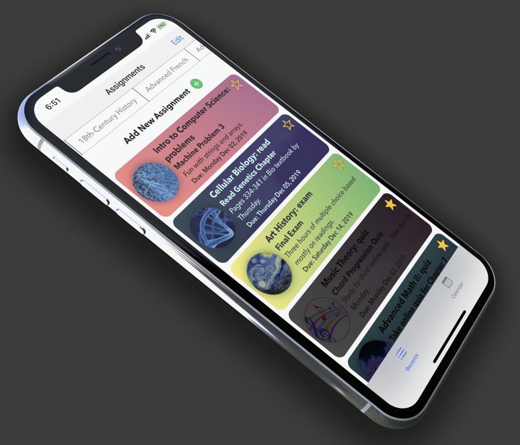 light mode homework app
